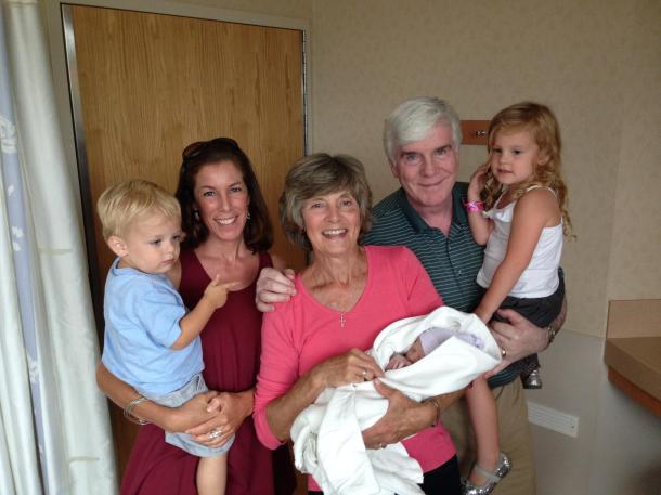 Proud Grandparents + Aunt Jodi